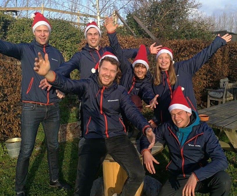 Jule billede med teamet